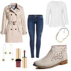 Trenchcoat & Chelsea Boots - #ootd #outfit #fashion #oneoutfitperday #fashionblogger #fashionbloggerde #frauenoutfit #herbstoutfit - Frauen Outfit Herbst Outfit Outfit des Tages boden Boots Chelsea Boots ESPRIT Gold IVY & OAK Jeans Kette Lipgloss nude Ohrringe ONLY Skinny Stiefeletten topschuhe24 Trenchcoat Yves Saint Laurent