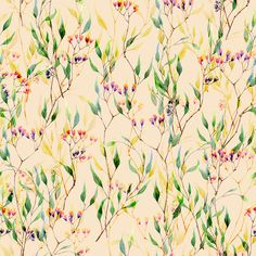 Watercolor Spring Patterns on Behance