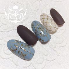 Silk Wrap Nails, Lace Nails, Halloween Nail Designs, Halloween Nails, Autumn Nails, Winter Nails, Water Nail Art, Asian Nails, Fingernails Painted