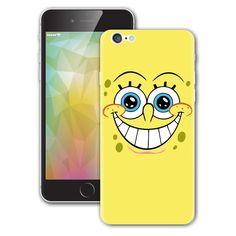 Spongebob Face Smile iPhone sticker Vinyl Decal