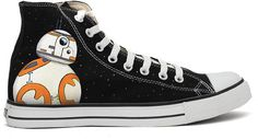 BB8 starwars handpainted converse shoes. by RahulMistry on Etsy