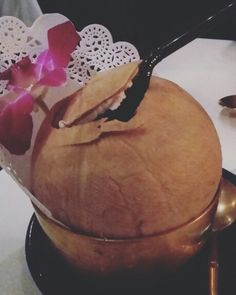 Noix coco fraîche from thailand #blueelephant