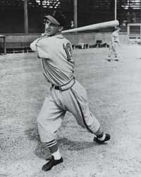 1943...Stan Musial of the St. Louis Cardinals,  played in 3,026 games and hit 475 homers during his career.