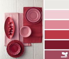 Palette of colours for Valentine's day inspiration. Hue Color, Colour Pallette, Colour Schemes, Color Combos, Color Patterns, Colours, Red Colour Things, Red Color Palettes, Monochromatic Color Scheme