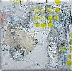 I can't think of a good title yet (2009) Oil on canvas, ink, pigment 320x320x45mm, via Flickr.