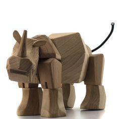 Simus the Rhino is the Wood Toys designed David Weeks that seems to most capture the spirit of Danish Designer Kay Bojesen classic wood toys.