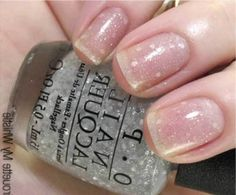 opi pirouette my whistle swatch ~ When we are talking of the top polishes, how can we not include a glitter? Here is a clear polish with fine silver and white hexagon glitters in it. A pretty polish that you can easily wear alone or pair it with your favorite polishes.