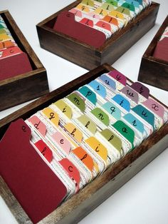 what about oversized paint chips as dividers?