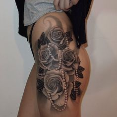 Black and white roses. Nahhh I think all tattooed roses should be in colour as they could look like cabbages!!!!!