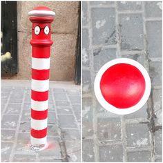 El arte pinta de color el gris de una calle de Madrid