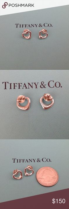 Tiffany & Co. Open Heart Earrings Authentic sterling silver Tiffany Open Heart earrings. Earrings are in new condition with no signs of wear and come with the Tiffany box and pouch. 🚫NO TRADES 🚫Poshmark gets 20% of all sales, so please keep that in mind when submitting an offer. Tiffany & Co. Jewelry Earrings
