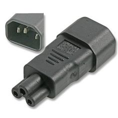 TVCables Kettle to Cloverleaf Power Adapter C14 to C5 Kettle to cloverleaf C14 to C5 power adapter converts a C13 kettle style cable to a C5 cloverleaf cable. http://www.MightGet.com/february-2017-3/tvcables-kettle-to-cloverleaf-power-adapter-c14-to-c5.asp