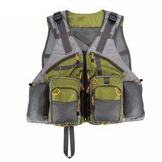 Veste de pêche unisexe ajustable de haute qualité #vivelapêche #cannes #vestedepêche #poisson #pêchemouche #giletdepeche