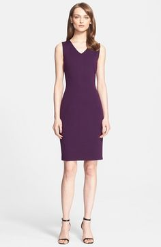St. John Collection Milano Knit V-Neck Sheath Dress available at #Nordstrom