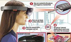 """""""مايكروسوفت"""" تطوّر نظارات تتبع الأشياء الصغيرة: طوّرت شركة مايكروسوفت نظارات جديدة للواقع الافتراضي، يمكنها تذكّر الأشياء الصغيرة الخاصة…"""