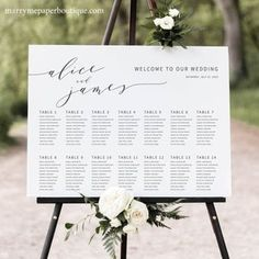 Seating Chart Template Editable Wedding Seating Chart | Etsy Seating Chart Wedding Template, Seating Plan Wedding, Wedding Templates, Seating Charts, Wedding Table, Circle Monogram, Monogram Design, Welcome To Our Wedding, Photo Center