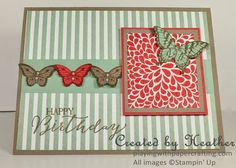 Playing with Papercrafting: Posies and Papillons for The Paper Players Diy Butterfly, Butterfly Cards, Card Sketches, Potpourri, Old And New, Stampin Up, Card Making, Paper Crafts, Play