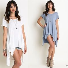 """""""Japanese Maple"""" Asymmetric Hem Tee / Top Asymmetric hem high low tee / top. Available in black, ivory and blue-grey. This listing is for the IVORY. Brand new. True to size but a loose fit. Bare Anthology Tops Tees - Short Sleeve"""