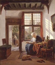 Lezende vrouw aan het venster | Dordrechts Museum | Huis Van Gijn