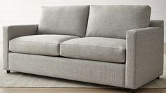 Designed to always look its best, even in high-traffic family rooms, the queen sleeper sofa dresses up or down to suit your space. The Barrett Queen Sleeper Sofa is a Crate and Barrel exclusive. Loveseat Sleeper Sofa, Sofa Couch Bed, Couches, Crate And Barrel, Apartment Sofa, Basement Apartment, Basement Kitchen, Modern Basement, Basement Walls