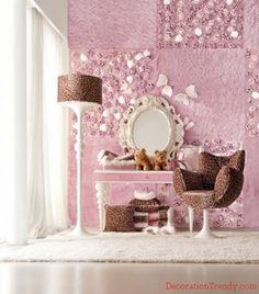 Brown and pink teenage room Decor 91159faf8