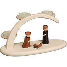 Candle arch nativity (25x13x10cm/9.8x5.1x3.9in)ch by Seiffener Volkskunst