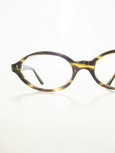 Vintage 1960s Olivine Glasses Oval Eyeglasses Womens Readers Classic Mid Century Modern Mod Geek Chic Geeky Nerdy 60s Deadstock NOS