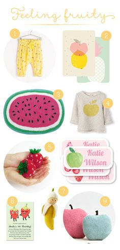 Things we're loving...Feeling Fruity! | Tinyme