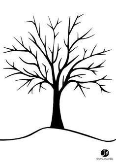 Fingerabdruck Baum Vorlage Andere Motive Kostenlos Zum Ausdrucken