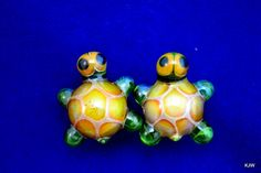 0g glass turtle plugs by turtleglass on Etsy, $40.00
