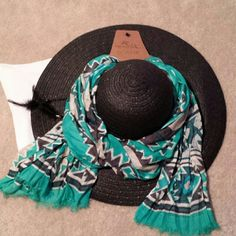 ~*Rue 21 & Bass Pro Shops Bundle*~ *Thank you @mzdvinity for picking this as your Host Pick on 11/5. Beautiful accessories bundle perfect for any style!! Sassy black hat from Rue 21 and colorful scarf perfect for the fall/winter weather from Bass Pro Shops. Scarf is brand new, never worn. Hat worn 1 time for bridal shower. Will create separate listing upon request. Please ask any questions before purchasing!! Happy Poshing!!* Rue 21 Accessories