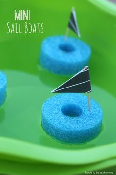 Mini Sail Boats are a fun playtime activity for kids!
