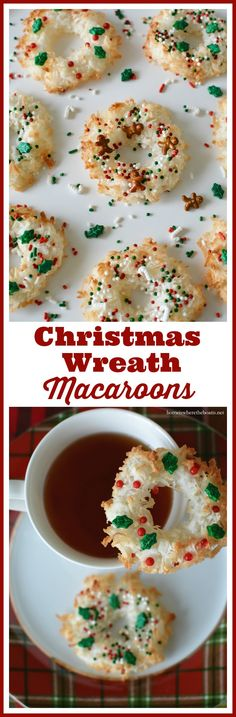 Christmas Wreath Macaroons, a festive little cookie for your holiday ...