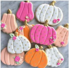 "I Bake, You Bake on Instagram: ""Wouldn't it be cool if pumpkins were naturally gilded? And pink? #baking #instabake #bakinglove #sugarcookies #decoratedcookies…"""