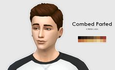 The Sims 4 CC || ellesmea  || Combed Parted Male Hair