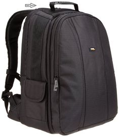 DSLR and Laptop Backpack - Orange interior