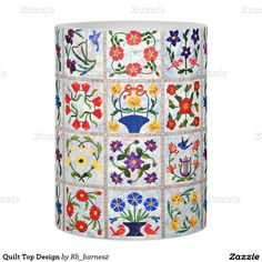 Quilt Top Design Flameless Candle