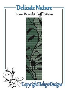 Delicate Nature- Loom Bracelet Cuff Pattern | DebgerDesigns - Patterns on ArtFire