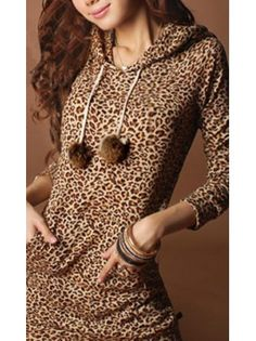 Hooded Leopard Print Long Sleeve Sweater! I want this so so bad!!!