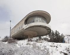 A guesthouse of the Armenian Writers' Union, at Lake Sevan, Armenia, designed by Gevorg Kotchar, 1960
