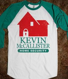 Kevin McCallister Home Security (Baseball) - Fun Movie Shirts - Skreened T-shirts, Organic Shirts, Hoodies, Kids Tees, Baby One-Pieces and Tote Bags