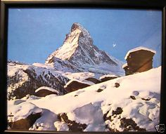Framed photograph of Mount Cook NZ Mount Cook, Winter Scenes, Photograph, Mountains, Cooking, Glass, Frame, Nature, Prints