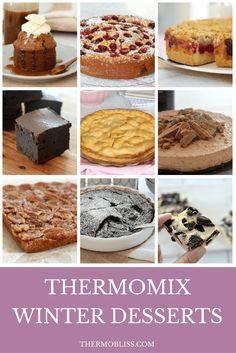 Top 10 Thermomix Winter Desserts (Most Popular Recipes) - Thermobliss Thermomix Desserts, No Bake Desserts, Delicious Desserts, Brownie Recipes, Cake Recipes, Dessert Recipes, Winter Desserts, Winter Recipes, Bellini Recipe