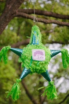 A playful backyard-style wedding complete with a Harry Potter bouquet, taquitos, and a piñata | Offbeat Bride  I freakin' want a pinata at our wedding!!
