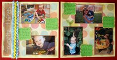 Favorite Things themed 12x12 layout