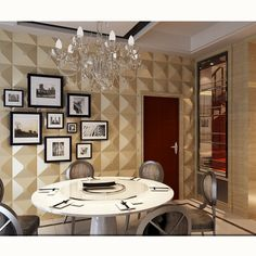 Beautiful leather wallpaper decorative wall panel for living room