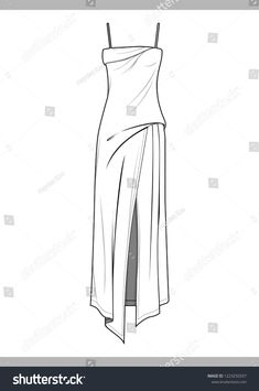 Find Dress Fashion Technical Drawings Vector Template stock images in HD and millions of other royalty-free stock photos, illustrations and vectors in the Shutterstock collection. Fashion Drawing Dresses, Fashion Dresses, Fashion Flats, Drawings Of Dresses, Drawing Fashion, Hijab Fashion, Fashion Fashion, Dress Design Drawing, Dress Drawing