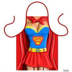 Vicces szakács kötény, Szuper Mama Girl M, Super Mom, Supergirl, Apron, Bra, Fashion, Moda, Fashion Styles, Bra Tops