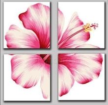 Get this pink hibiscus flower multi-panel canvas oil painting for your Perth home. We can deliver your hand painted artwork orders anywhere in Australia. Bob Ross Paintings, Paintings I Love, Flower Paintings, Big Wall Art, Wall Art Decor, Wall Decorations, Oil Painting On Canvas, Canvas Wall Art, Diy Canvas