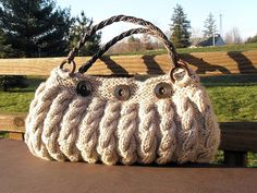 knitted Slouchy purse